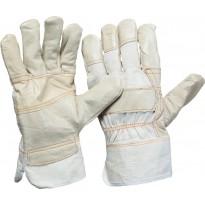 Кожаные перчатки с обивкой размер 10